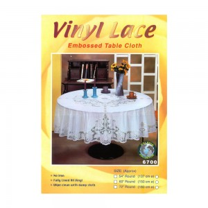 Dolphin-Collection-6700-36RD-Vinyl-Lace-Tablecloth-(Round)-Size-36-Round-Color-White