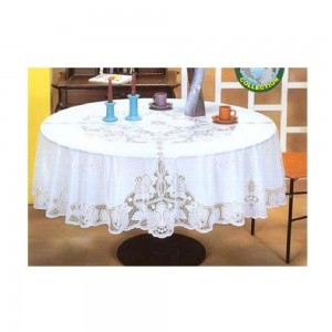 Dolphin-Collection-6700B-36RD-Vinyl-Lace-Tablecloth-(Round)-Size-36-Round-Beige-Color-Beige