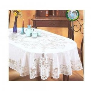 Dolphin-Collection-6700B-5472OVL-Vinyl-Lace-Tablecloth-(Oval)-Size-54x72-Oblong-Beige-Color-Beige