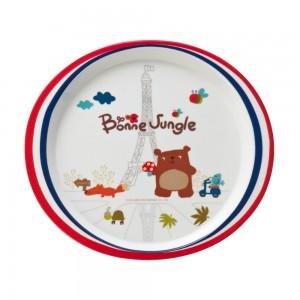 FB13204_1_Melamine_Plate_(French_Bear)_Size24.2x22x2cm