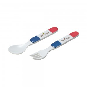 FB503S_Melamine_Fork_Spoon_Set_(French_Bear)_Size13.9x2.4cm