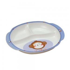 S808_B_Melamine_Children_Division_Plate_(Monkey)_Size_23.2x18.5x2.8cm