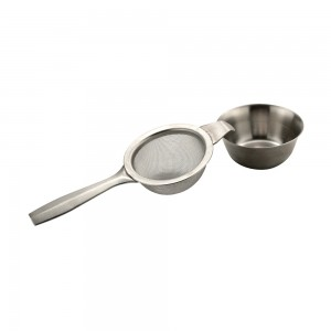 Sunnex-11109-Tea-Strainer-With-Drip-Bowl-Stainless-Steel-Single-Handle