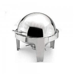 Sunnex-X32621-Stainless-Steel-Roll-top-Round-Chafer-Size-Dia-36cm-Capacity-6.8LTR-7.2U.S.QT